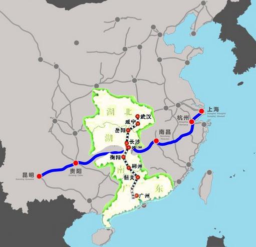 广州南站高铁线路图 广州至湛江高铁线路图 广州到重庆高铁线路图图片